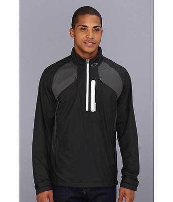 New Oakley 1/4 Zip Jacket Black High Performance Hydrofuse Sport Water Resistant