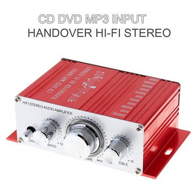 DC12V Red Color Handover Hi-Fi MP3 Car Stereo Amplifier Support CD DVD Input