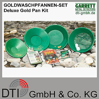 GARRETT Deluxe Gold Pan Kit - Goldwaschpfannen Set - Metalldetektor - Goldsuche