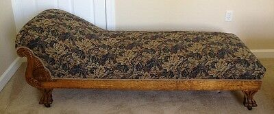 Vintage Fainting Sofa Couch early 1900's Illinois Parlor Furniture Company
