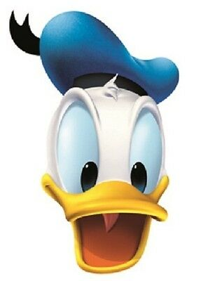 Donald Duck Disney Single 2D Card Fun Face Mask. Great for Children's Parties