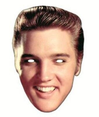 Elvis Presley Single 2D Card Fun Face Mask - Great for Hollywood Themed Parties