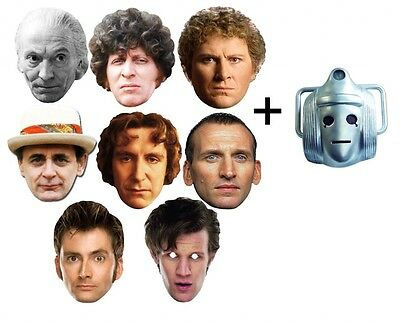Doctor Dr Who 50th Anniversary Variety 9 Pack Official Card Party Face Masks