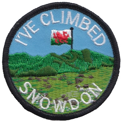 I've Climbed Snowdon Snowdonia National Park Wales Flag Embroidered Patch Badge
