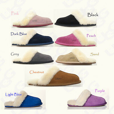 OZLANA Premium Australian wool UGG Slippers/Scuff Unisex with furry wool collar