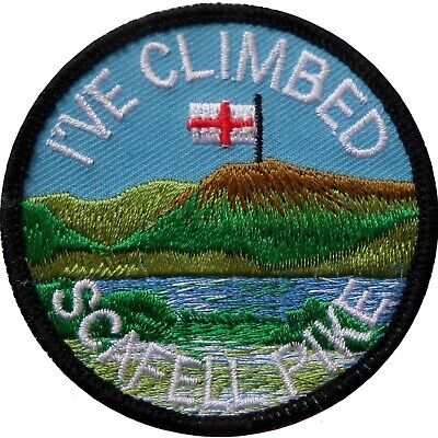 I've Climbed Scafell Pike Flag Embroidered Patch Badge