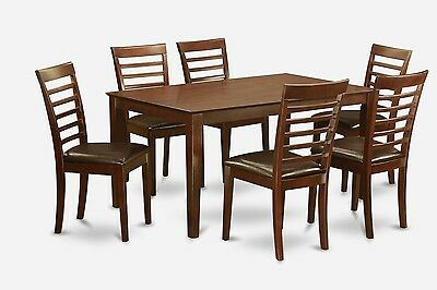 Groovy 5Pc Dinette Kitchen Dining Set Round Table With 4 Faux Creativecarmelina Interior Chair Design Creativecarmelinacom