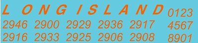 4005 O scale long island decals