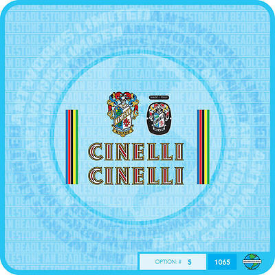 Cinelli Bicycle Decals - Transfers - Stickers - Set 5