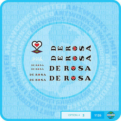 Stickers De Rosa Set 4 Decals Bicycle Transfers