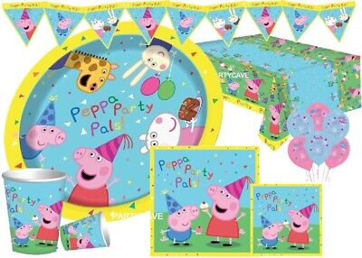Peppa Pig Complete Party Kits Plates Cups Banner Napkins Tablecovers Decorations