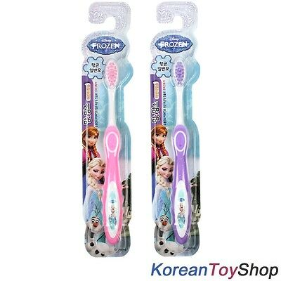 Disney Frozen Toothbrush Kids 2 pcs Pink & Purple Colors w/ Brush of DU PONT