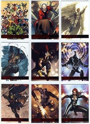 2012 Marvel Greatest Heroes complete 1-81 Base card set (81 cards) Rittenhouse