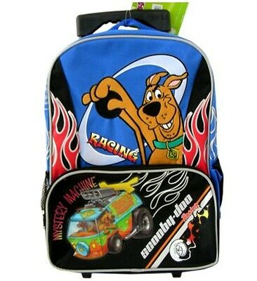 Mystery Machine Scooby Doo Rolling Backpack- Racing, New