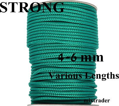 Poly Rope Line Washing Clothes Line Pulley PolyRope Polypropylene Green 4-6mm