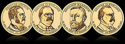 All 4 Presidential Dollar Coins For 2012  D-Mint