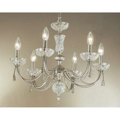 Classic Lighting Weatherford Rope Traditional Chandelier, Satin Nickel - 5486SN
