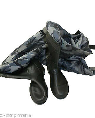 Urban Camouflage (Grey / Black) Chest Waders Size Large 11 (45 / 285) 3L *BNWP*