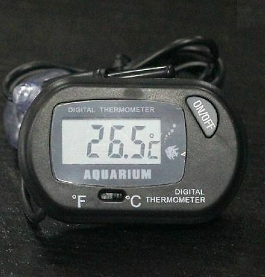 DZ146 LCD Digital Fish Tank Aquarium Temperature Thermometer Water Terrarium Bla