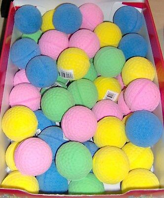 Sponge Golf Balls - Soft Cat Chase Play Toys - Bouncy Ball Choice of Colours