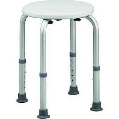Round Stool Bath Bench Adjustable Height, Tub Shower Seat Bench Stool White