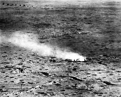 New 8x10 World War I Photo: Aerial View of French Troops on the Somme Front