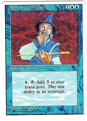 Apprentice Wizard carte Magic Set Base 4th Fourth Edition ENGLISH CARD NM