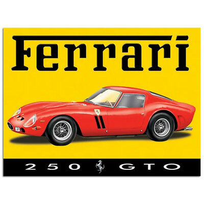 Ferrari GTO 250 Sign Classic Italian Sports Car Garage Decor 12x16