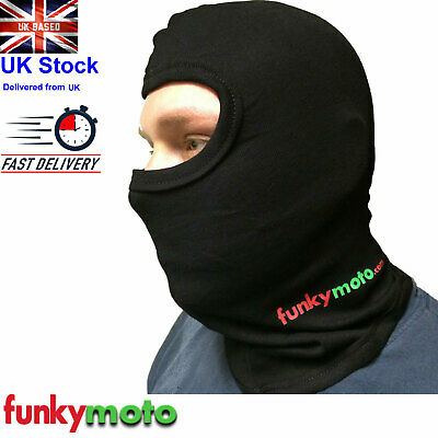 Funkymoto Cotton Stretch Thermal One 1 Hole Balaclava  Motorcycle Discount Cheap