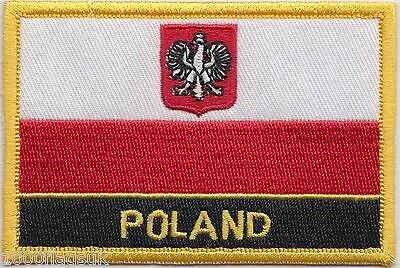 Poland Eagle Flag Embroidered Patch Badge - Sew or Iron on