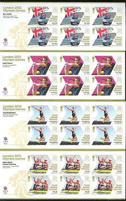 Great Britain London 2012 Olympic Gold Medal Winners Lot Of 28 Sheets Of 8 Mint