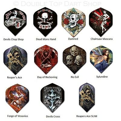 5 x Sets Alchemy Gothic Dart Flights Official licensed 100 Micron Thick Ruthless