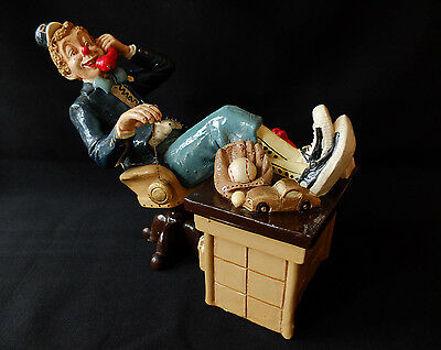 Vintage Clown Figure / Statue Talking on Telephone and Playing YoYo Call JU 983