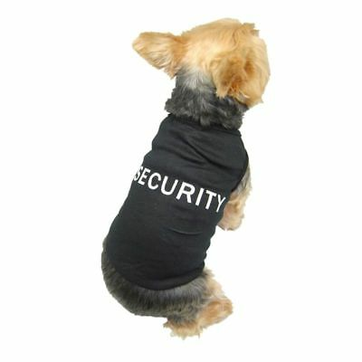 Pet Dog Puppy Security Cotton T Shirt Tank Top Tee Clothes Apparel