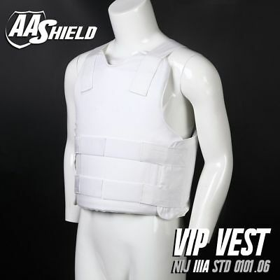 AA SHIELD Bullet Proof VIP Vest Concealable Aramid Lvl IIIA 3A Size M White