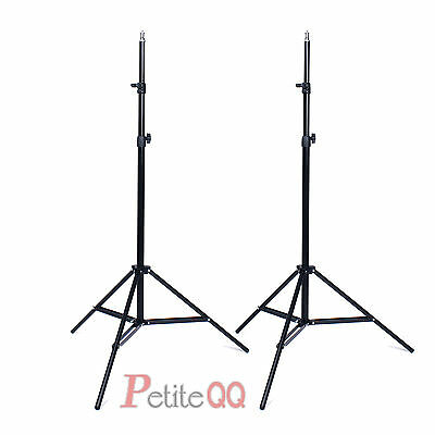 2x Pro Photo Studio 2M 7ft Telescopic Light Stand Tripod Support for Lighting UK