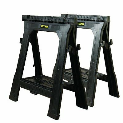 NEW Stanley 060864R Folding Sawhorse (2-Pack)