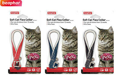 Beaphar Sparkle Up To 1 Year Protection Cat Flea Collar 3 X 4 Months 3 Colours
