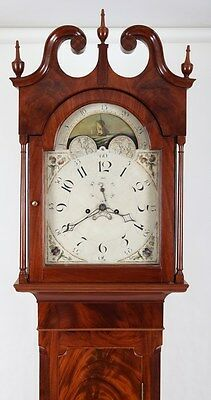 1810 Patton & Jones High Style Philadelphia Mahogany Tall Case Grandfather Clock