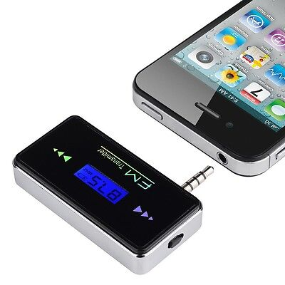 3.5mm Wireless In-car FM Transmitter LED for iPhone 6 6 Plus 5S 5C 5 4S 4 3GS