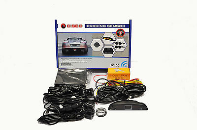 Cisbo Rear Reverse Car Parking Sensors Four Sensor Buzzer Alarm Led Display Kit
