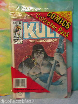 Marvel Comics Collector 3  Pack Kull The Conqueror PLUS 2 other Comics NOS