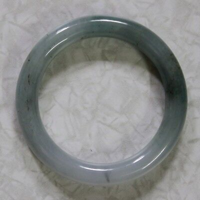 "CERTIFIED Natural ""A"" Untreated Oily Green Jadeite JADE Bangle, 54mm 油青玉"
