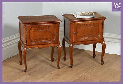 Pair of Antique French Oak Louis XV1 Revival Bedsides Chests Cabinets Cupboards