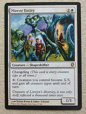 XXX 1x MIRROR ENTITY englisch commander 2013 (changeling white) NM/MINT XXX XXX