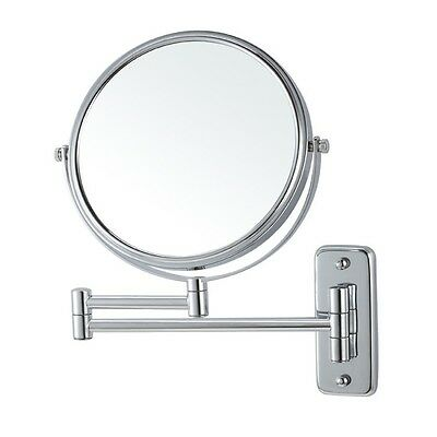 Wall Mounted Chrome 3x Double Sided Makeup Mirror