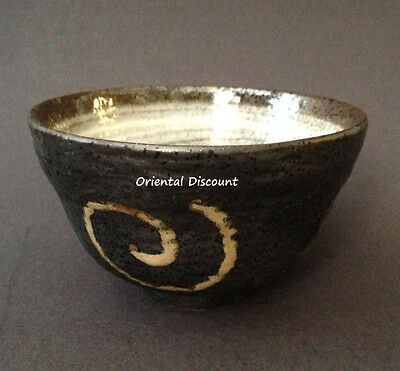 """Japanese 5""""D Ceramic Matcha Cup Bowl Naruto Tea Ceremony Authentic Made in Japan"""