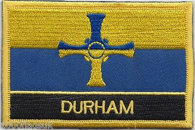 Durham County Flag Embroidered Patch Badge - Sew or Iron on