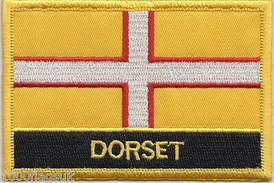 Dorset County Flag Embroidered Patch Badge - Sew or Iron on