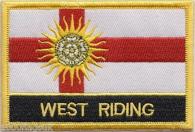 West Riding Of Yorkshire County Flag Embroidered Patch Badge - Sew or Iron on